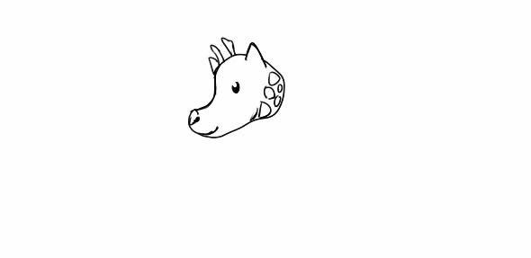 长颈鹿怎么画,长颈鹿儿童简笔画 动物-第3张