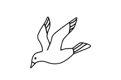 海鸥简笔画简单画法教程 初级简笔画教程-第8张