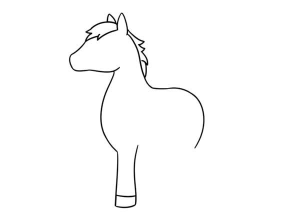 漂亮的小马简笔画画法步骤步骤图片大全 动物-第2张