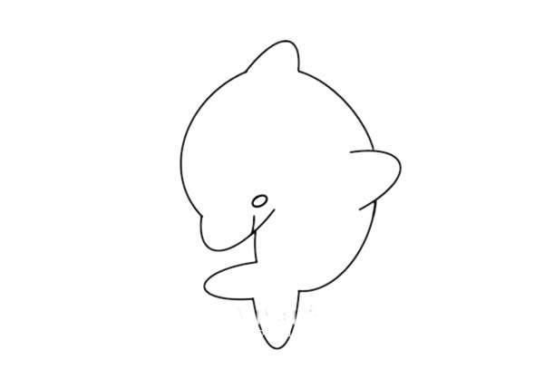 海豚怎么画又简朴又漂亮又可爱 海豚简笔画步骤图解教程 中级简笔画教程-第5张
