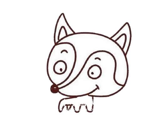 彩色可爱狐狸简笔画画法步骤步骤教程 动物-第4张