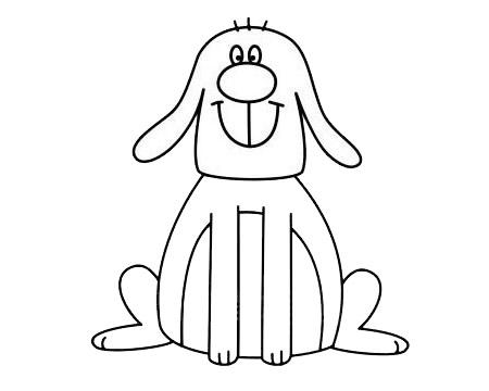 一步一步学画小狗简笔画 初级简笔画教程-第10张