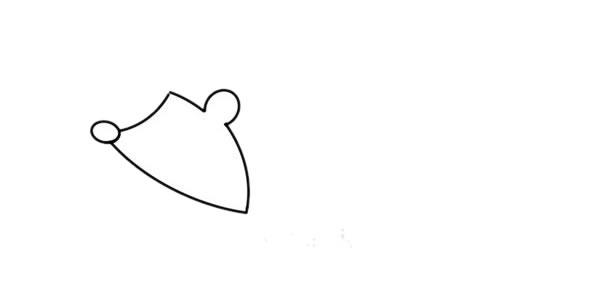 刺猬怎么画,小刺猬儿童简笔画 初级简笔画教程-第2张