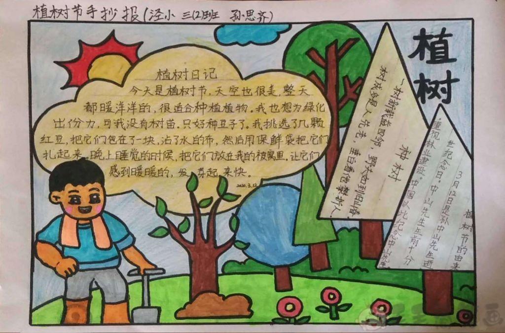 植树节儿童手抄报