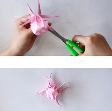 手工折纸立体章鱼怎么折图解 手工折纸-第1张