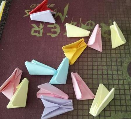 棒棒糖手工折纸步骤图解法 手工折纸-第9张
