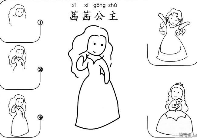 茜茜公主怎么画 人物-第1张
