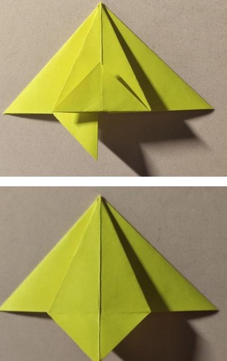 三角书签的折法图解 手工折纸-第6张