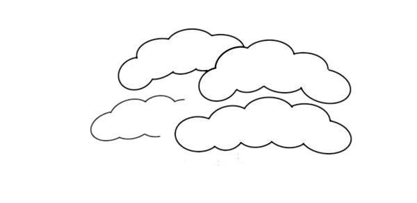 彩色松柏简笔画画法步骤教程 中级简笔画教程-第3张