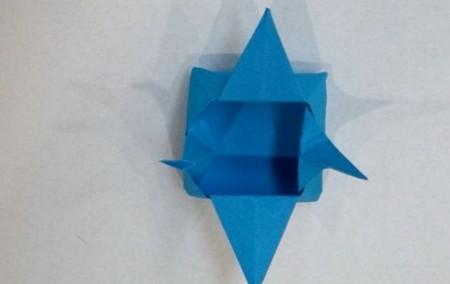 千纸鹤盒子的折法步骤图 手工折纸-第1张