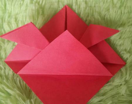 立体小金鱼的简单折法 手工折纸-第7张
