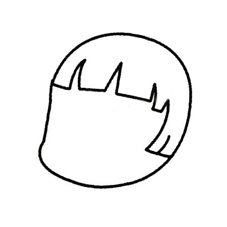 小红帽儿童简笔画画法 人物-第3张