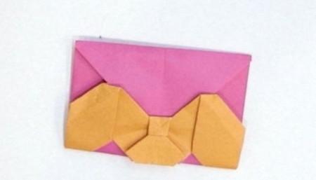 长方形信封的折法图解 手工折纸-第1张