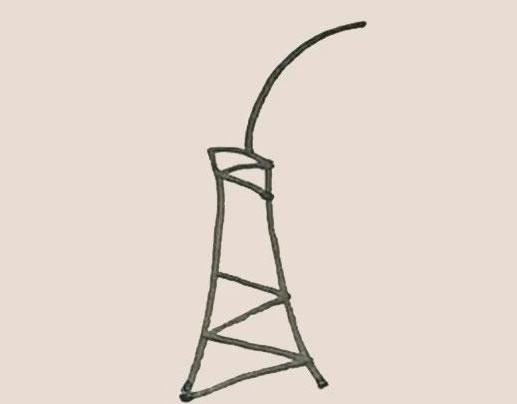 芭蕉树简笔画的画法步骤图教程 中级简笔画教程-第4张