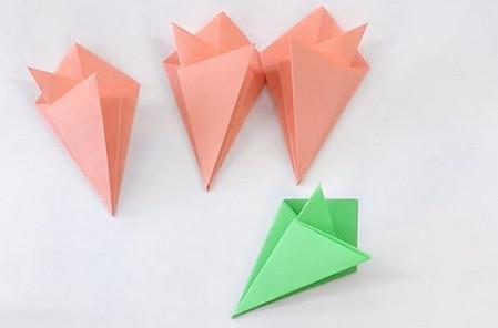 康乃馨手工折纸花步骤图解 手工折纸-第5张