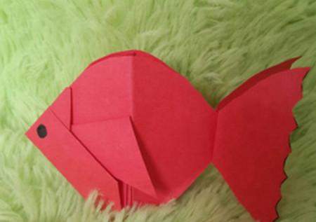 立体小金鱼的简单折法 手工折纸-第1张
