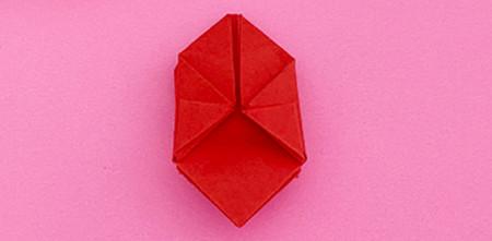 折纸樱桃步骤图解法 手工折纸-第8张