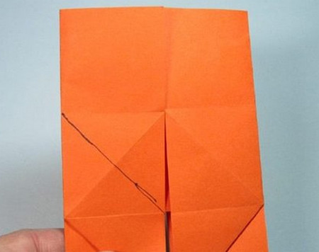 带翅膀爱心的折法图解 手工折纸-第8张