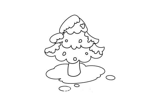 松树简笔画画法步骤图片 中级简笔画教程-第6张