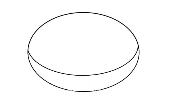 巧克力甜甜圈简笔画画法步骤图片