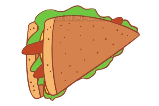 三明治简笔画图片大全作品三