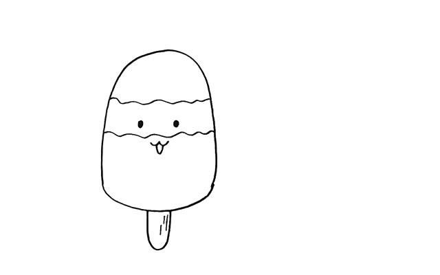 卡通雪糕简笔画