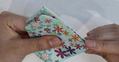 花瓶折纸步骤图解 手工折纸-第7张
