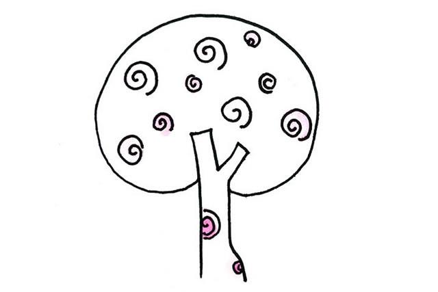 创意树木简笔画图画大全 植物-第7张