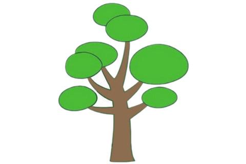 教小朋友画简单的松树简笔画 初级简笔画教程-第1张