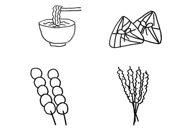 卡通食物/甜品简笔画图片大全