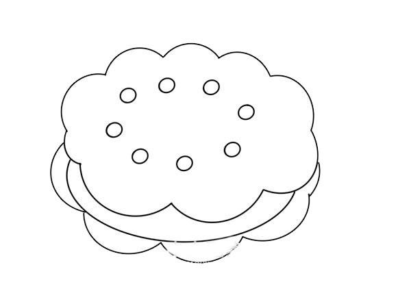 夹心饼干简笔画图片