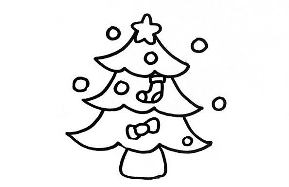 圣诞树简笔画,儿童简笔画图片 中级简笔画教程-第4张