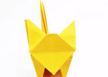 小猫立体折纸步骤图解法 手工折纸-第1张