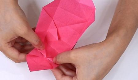 儿童手工折纸心形盒子的折法图解 手工折纸-第7张