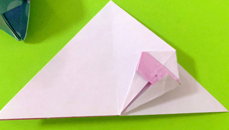 冰淇淋折纸步骤图解法 手工折纸-第9张