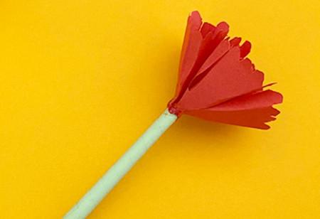 儿童手工折纸康乃馨花教程 手工折纸-第10张