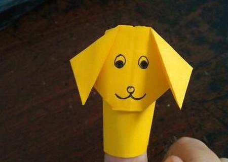 小狗指套怎么折 手工折纸-第1张