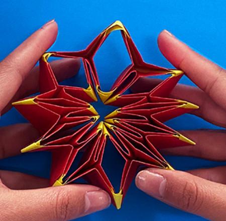 立体无限翻转手工折纸图解 手工折纸-第11张