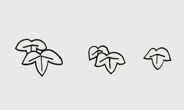 葡萄树简笔画画法步骤 初级简笔画教程-第2张