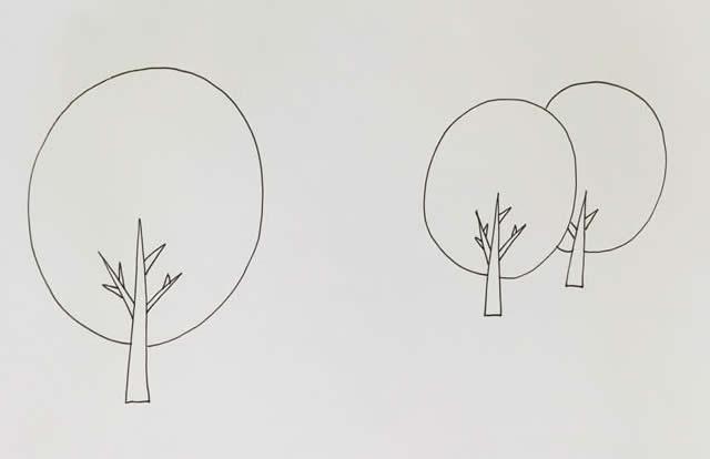 秋天风景简笔画彩色画法图片 植物-第2张