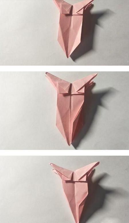 五角星花折纸教程图解 手工折纸-第12张