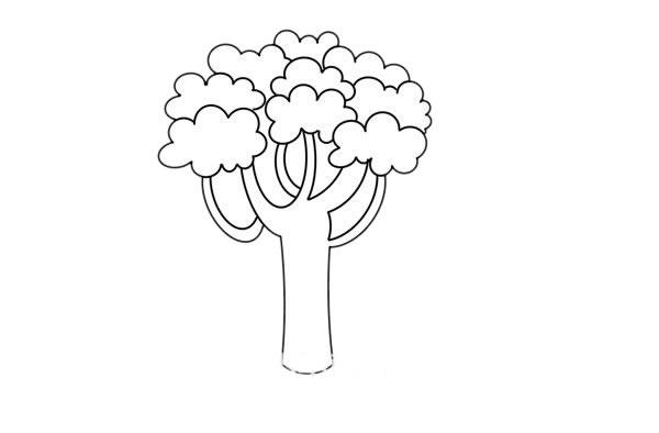 大树简笔画,桉树简笔画画法步骤教程 中级简笔画教程-第4张