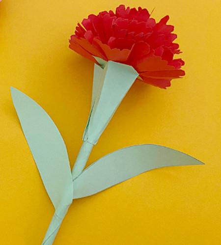 儿童手工折纸康乃馨花教程 手工折纸-第1张