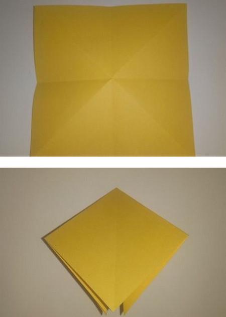 折纸太阳花步骤图解 手工折纸-第2张