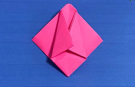 花骨朵折纸的折法图解 手工折纸-第7张