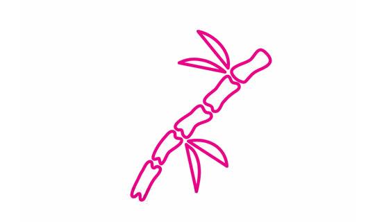 竹子简笔画的画法步骤 植物-第1张