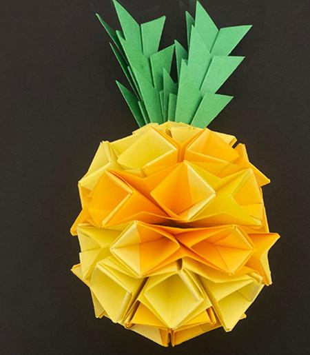 菠萝手工折纸方法图解 手工折纸-第1张
