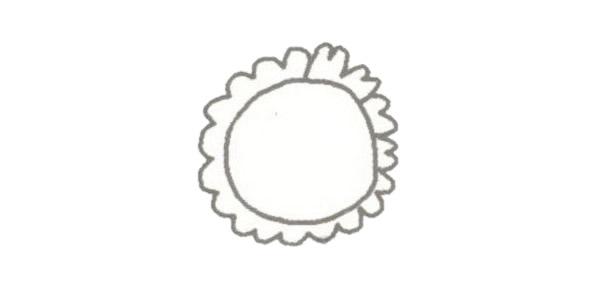 向日葵简笔画的画法步骤图教程 植物-第2张
