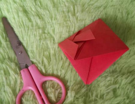 立体小金鱼的简单折法 手工折纸-第11张