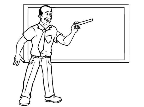 4款老师讲课简笔画图片 人物-第3张